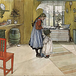 Carl Larsson - The Kitchen. From A Home