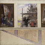 Carl Larsson - Second Proposed Decoration of the Walls in the Lower Hall of the Nationalmuseum