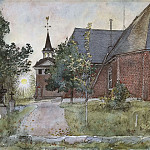 Carl Larsson - Old Sundborn Church. From A Home