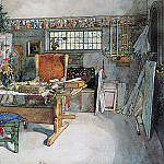 Carl Larsson - The Studio 1895