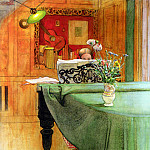 Carl Larsson - Brita Vid Pianot (Brita at the Piano) 1908