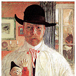 Carl Larsson - 1906 Self-Recognition oil