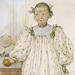 Carl Larsson - Martha Winslow as a Girl