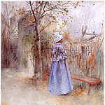 Carl Larsson - Otoсo watercolor 1884