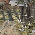 Carl Larsson - The Gate. From A Home