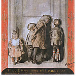 Carl Larsson - 1892 The Day Before Christmas Eve watercolored pen ink drawing