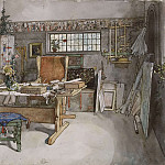 Carl Larsson - The Studio. From A Home