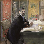 Carl Larsson - Gustaf Upmark, director of the Nationalmuseum