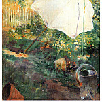Carl Larsson - 1883 Garden in Grez Sketch in oil