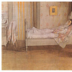 Carl Larsson - 1899 Convalescence watercolor