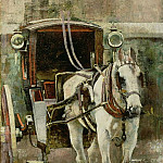 William Logsdail - The Hansom Cab