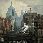 William Logsdail - St. Pauls and Ludgate Hill