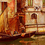William Logsdail - A Venetian Backwater