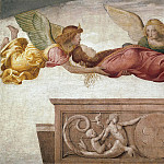 Giuseppe Molteni - St Catherine Carried To Her Tomb By Angels (fresco from the Villa Pelucca at Sesto San Giovanni)