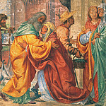The meeting between St. Anne and St Joachim