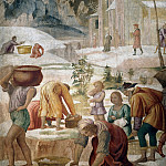 Luca Cambiaso - The Gathering Of The Manna (fresco from the Villa Pelucca at Sesto San Giovanni)
