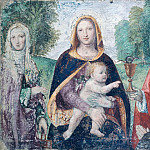 Giacomo Favretto - Madonna and Child with Saints