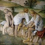 Paris Bordone - Girl Bathing (fresco from the Villa Pelucca at Sesto San Giovanni)