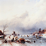 Charles Henri Joseph Leickert - Dutch winter scene