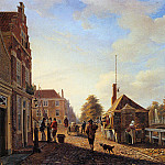 Charles Henri Joseph Leickert - Het Spui in the Hague