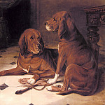 Luker_William_Two_Hounds_In_A_Great_Hall, Том Холл