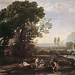 Claude Lorrain - Landscape with Rest in Flight to Egypt