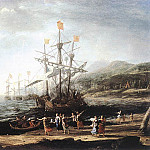 Claude Lorrain - Marine with the Trojans Burning their Boats