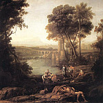 Claude Lorrain - Landscape with the Finding of Moses