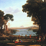 Claude Lorrain - Landscape with the Marriage of Isaac and Rebekah, 16