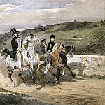 Horace Vernet and his Children Riding in the Country, Horace Vernet