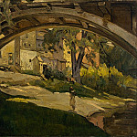 Girl under Arched Bridge