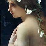 Nymph with morning glory flowers, Jules-Joseph Lefebvre