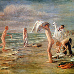 Max Liebermann - Swimming boys