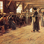 Max Liebermann - Flax spinners in Laren