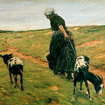 Max Liebermann - Woman with goats