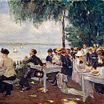 Oscar Frenzel - Coffee House Terrace at Nikolskoe, Berlin