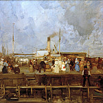 Lovis Corinth - Arrival of the steamer