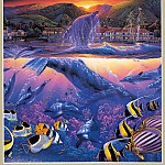 Christian Riese Lassen - Lahaina Visions Triptych MiddleL