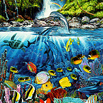 Christian Riese Lassen - kb Lassen Greeting Cards Eternal Rainbow Sea
