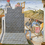 Giovanni di Paolo - Saint Barbara Oversees the Building of the Tower