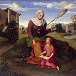 Friedrich Wilhelm Von Schadow - Saint Anne and Mary