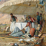 John Frederick Lewis - A Frank Encampment in the Desert of Mount Sinai, 1842