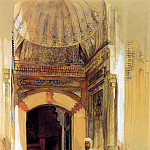 John Frederick Lewis - Entrance to tomb of Sultan Bayezid