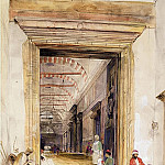 John Frederick Lewis - The Great Doorway of the Mosque of Santa Sophia, Constantinople