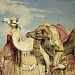 John Frederick Lewis - Greetings in the Desert, Egypt Selmat Teiyibin