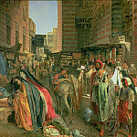 John Frederick Lewis - The Street and Mosque of the Ghooreyah, Cairo