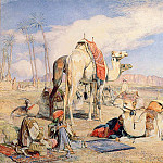 John Frederick Lewis - A Halt in the Desert