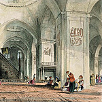 John Frederick Lewis - Great Mosque at Brussa, plate 24 from Illustrations of Constantinople