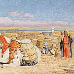 John Frederick Lewis - The Caravan - An Arab Encampment at Edfou