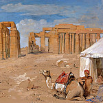 John Frederick Lewis - The Ramesseum at Thebes